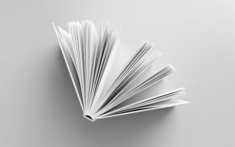 White book on white background